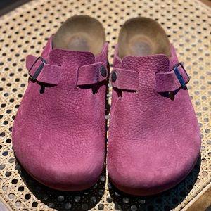 Dark Pink women's Birkenstock's Boston's sz 40